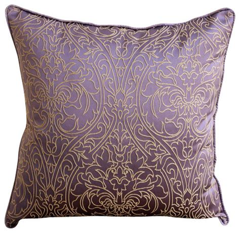 Decor Throw Pillows by Purple Gold Purple Silk Throw Pillow Covers