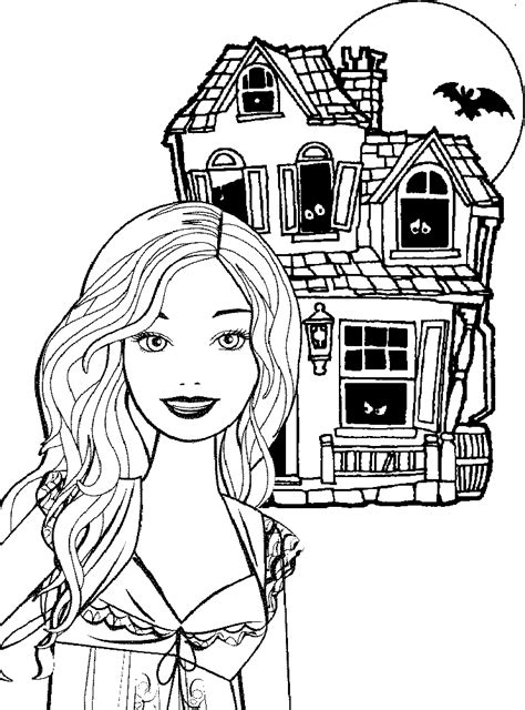 barbie coloring pages happy halloween barbie printable