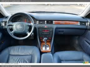 royal blue interior dashboard for the 2000 audi a6 2 7t