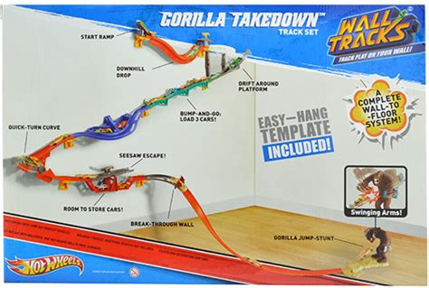 hot wheels gorilla takedown wall to floor action track