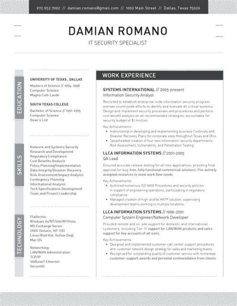17 Best Resume Templates Images On Pinterest Professional Resume Template Resume Templates Two Column Resume Template Word Free