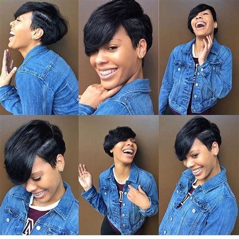 growing out your pixie cut black hair women s cute black undercut pixie with side swept bangs