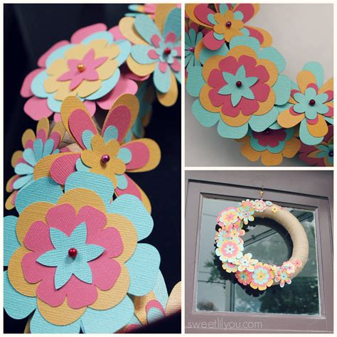 Summer Paper Crafts For - easy diy paper flower wreath sweet lil you
