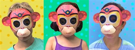 new year monkey mask new year monkey mask 2016 year of the monkey