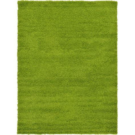 grass green area rug unique loom solid shag grass green 7 ft x 10 ft area rug 3127900 the home depot