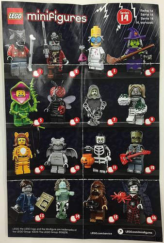 Lego Minifigure Seri 14 Square Foot lego collectible minifigures series 14 monsters 71010