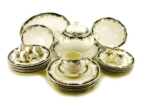 dinner set hungarian porcelain zsolnay sissi decor dinner set for 6