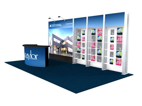trade show booth design houston 10x20 turn key trade show booth design 1249 interlink plus