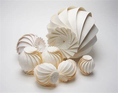 Folded Paper Sculpture - hi tech 3d origami by jun mitani spoon tamago