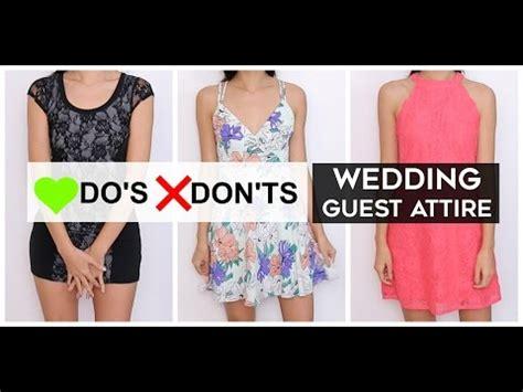 Wedding Attire Don Ts by Do S Don Ts Wedding Guest Attire