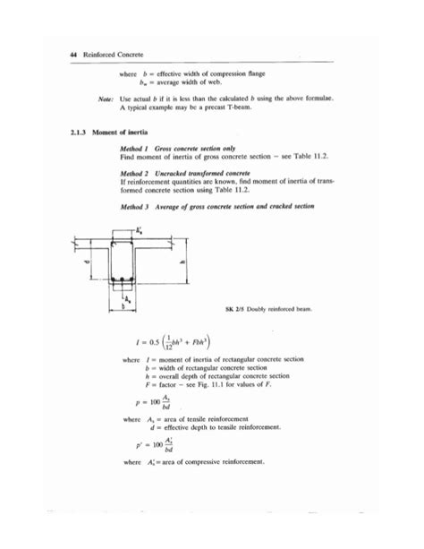 moment of inertia of cracked section 2 design of reinforce concrete beams