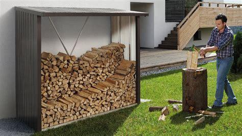 unterstand f r holzlagerung 1504 kaminholzregal woodstock biohort