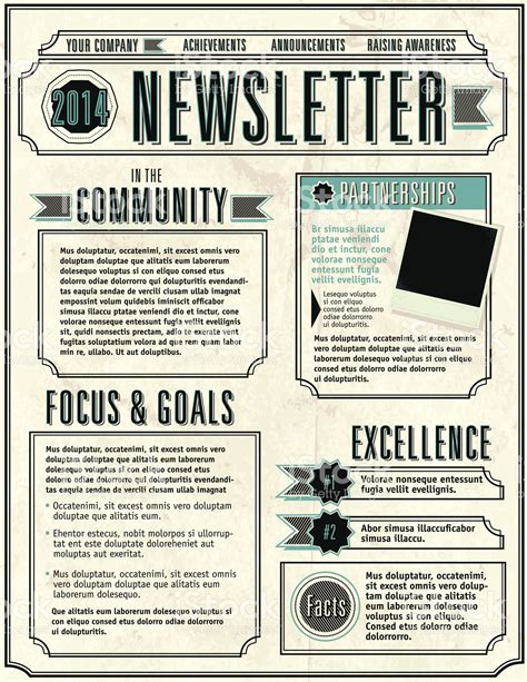 newsletter layout vector vector illustration of a company newsletter design