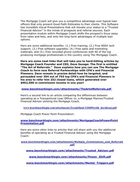 Mortgage Loan Officer Introduction Letter business development guide