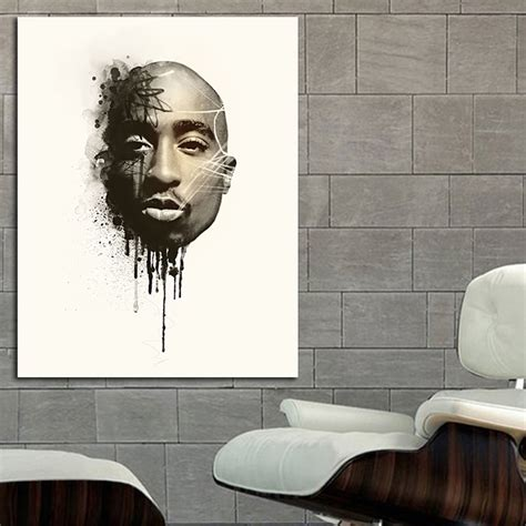 tupac wall mural tupac 2pac rap hip hop poster wall mural print on paper