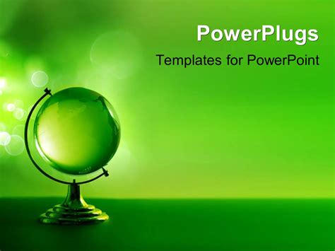 ppt templates free download crystalgraphics powerpoint template 3d model of green glass globe on