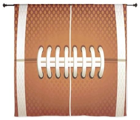 football curtain football 60 inch curtains eclectic kids decor by