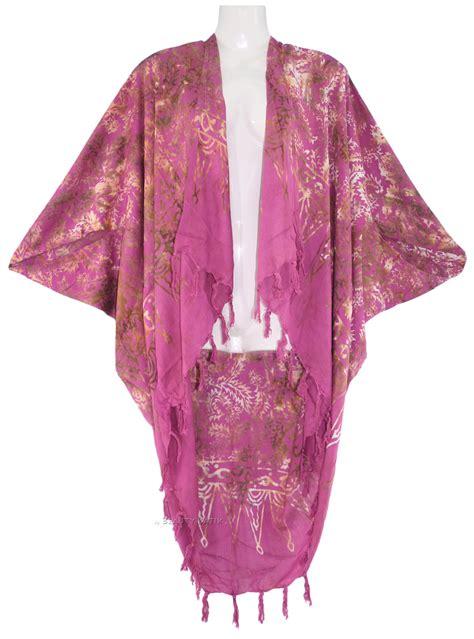 batik shawl pattern purple women batik kimono shawl wrap plus size jacket