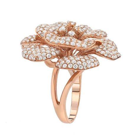 6 11 carats pav 233 diamonds gold flower ring for sale at 1stdibs