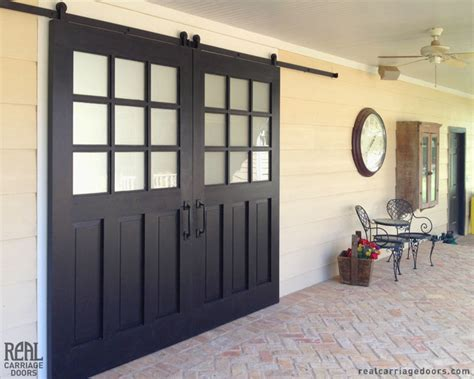 Sliding Door As Front Door Exterior Sliding Barn Doors Traditional Patio Other