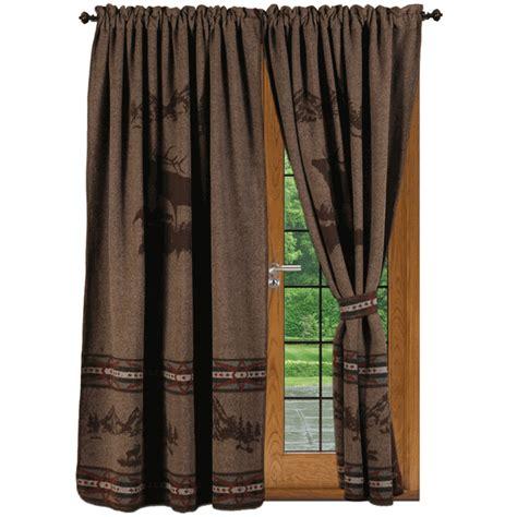mountain curtains rocky mountain elk drapery set
