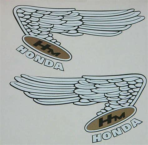 vintage honda logo style wing honda logo