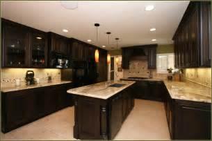 Cherry kitchen cabinets with granite countertops home design ideas