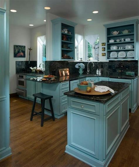 blue teal kitchen dream home pinterest