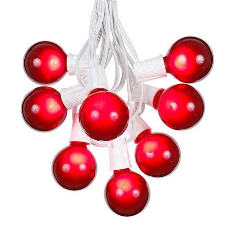 100 Red G50 Globe String Light Set On White Wire Novelty Novelty Lights