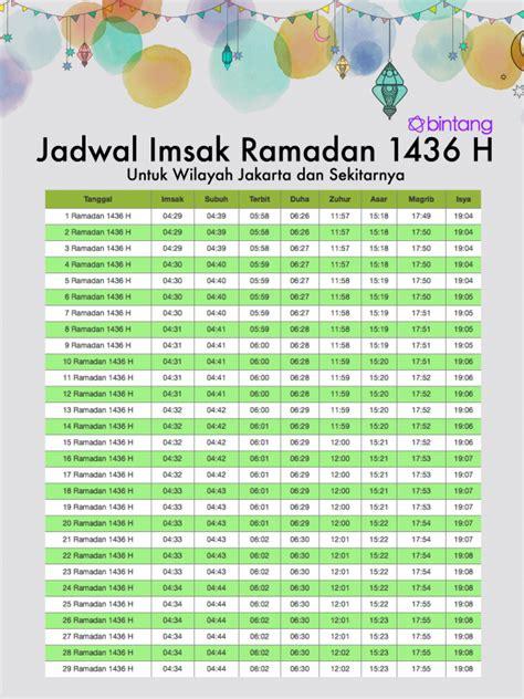 Kalender Ramadhan Untuk Anak Berikut Jadwal Puasa 2015 Untuk Anak Ibu Kota Jakarta