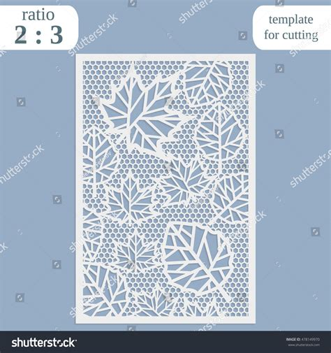 laser cut greeting card template laser cut wedding card template paper stock vector