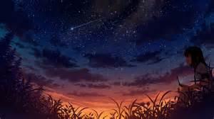 sunset stars wallpaper