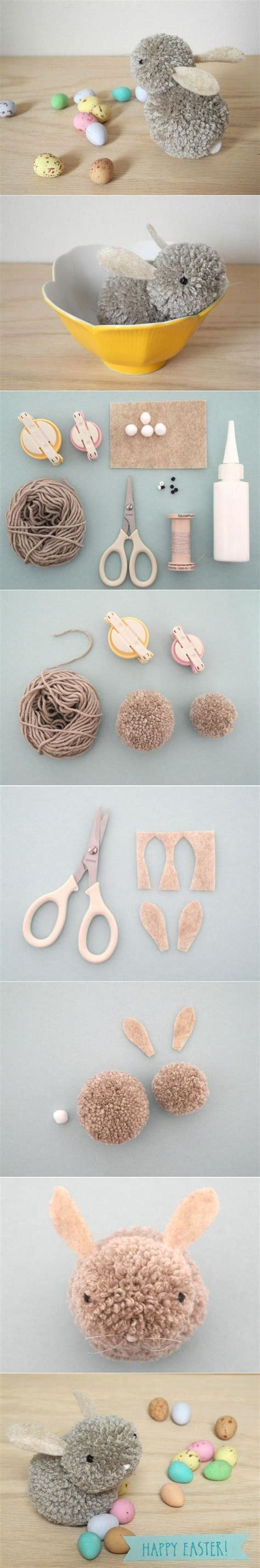 Valentines Decoration Ideas Diy Pom Pom Bunny Fabdiy