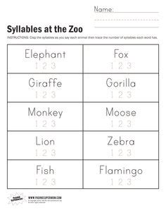 syllables worksheets 1st grade syllables worksheets worksheets
