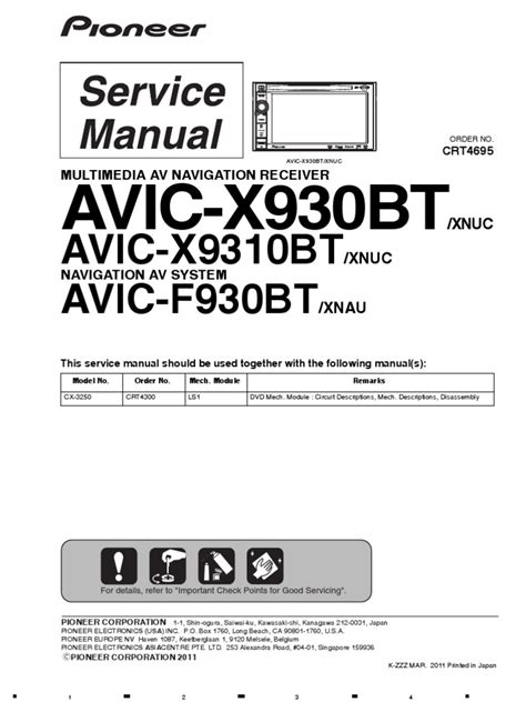 pioneer avic x930bt wiring diagram efcaviation