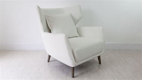 Wing Back Armchair by Wing Back Leather Occasional Armchair White Grey And Black