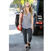 Looking Fit Hilary Duff Flashes A Wide Smile As She Walks In Beverly