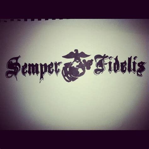 semper fidelis tattoo design semper fi by tehkimmeh on deviantart