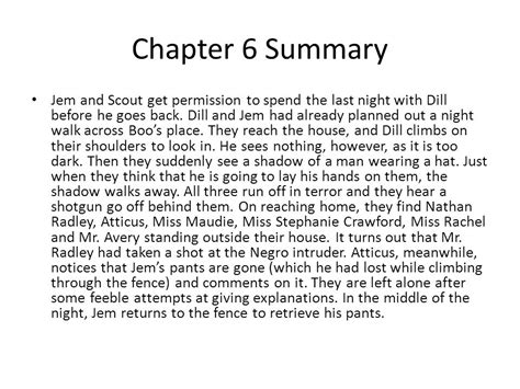 A Place Synopsis To Kill A Mockingbird Chapters 1 2 Notes Ppt