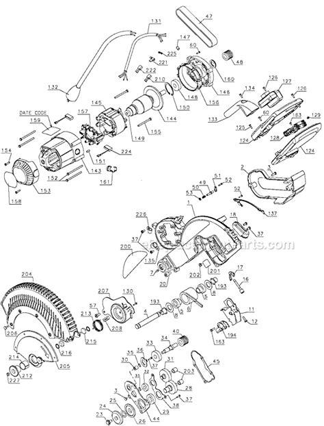 Dewalt Dws780 Parts List And Diagram Type 1