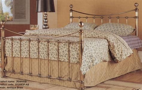 antique style bed frames antique brass effect gold metal bed frame 4ft6