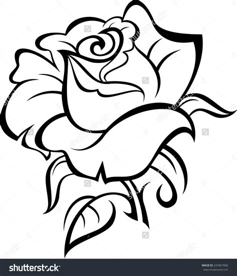 rose tattoo outline collection of 25 outline