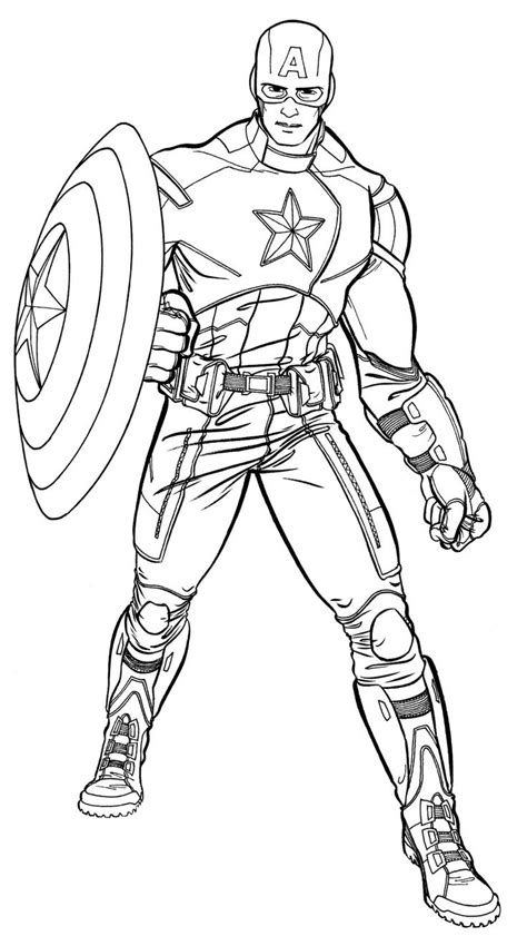 superhero coloring pages games top 20 free printable captain america superhero coloring