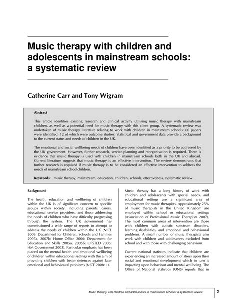 abstract thesis about child and adolescent music therapy with children and pdf download available