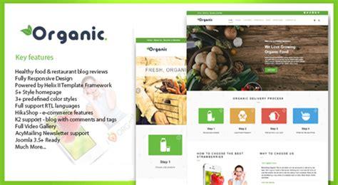 joomla template organic food organic ecology environmental joomla template themes