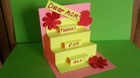 how to make a card how to make pop up cards for mothers day www imgkid