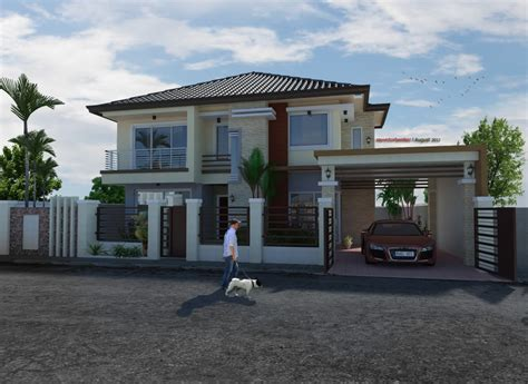 two storey residential house design proposed two storey residential house home design