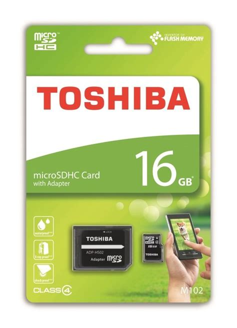 Micro Sd Thosiba 16gb Class 10 toshiba m102 class 4 16gb micro sd card with adapter ebuyer