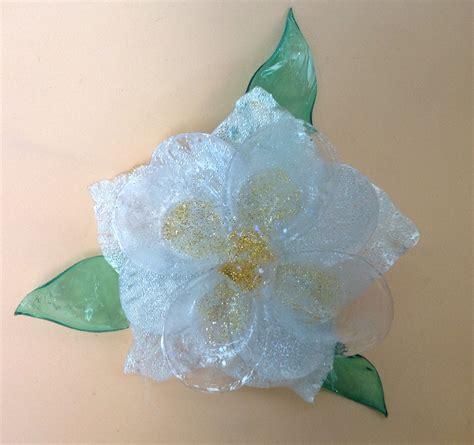 fiori di plastica riciclata fiore con bottiglie di plastica prodotto effetto vetro