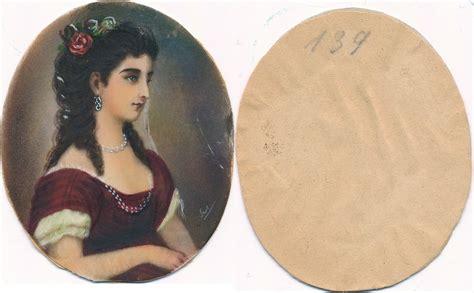preiswerte vintage möbel antike lupenmalerei miniaturmalerei miniatur auf elfenbein